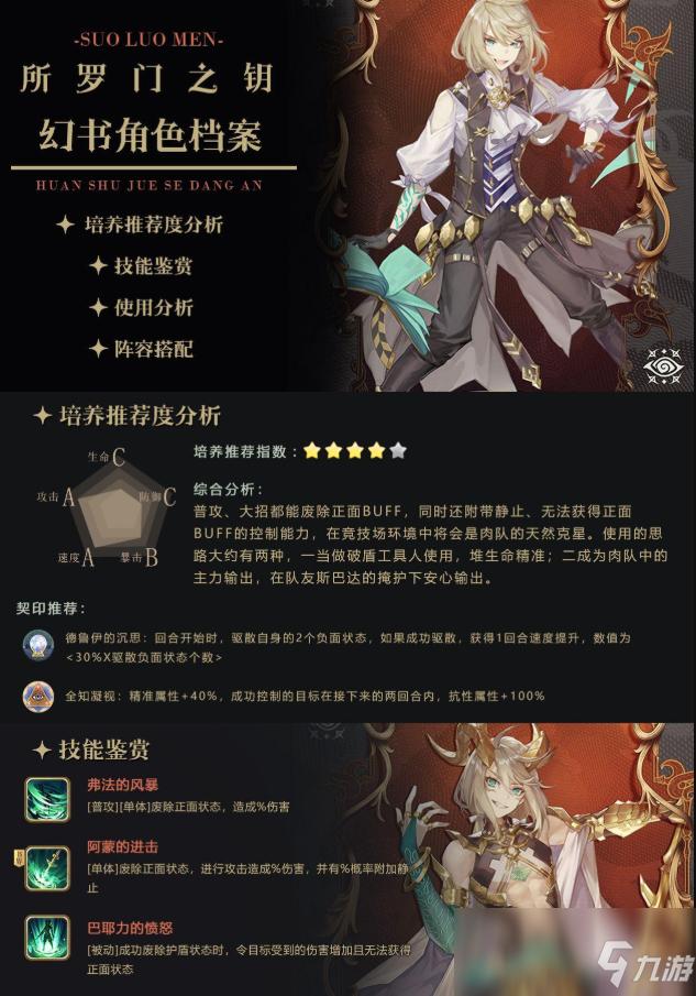 《幻书启世录》所罗门之钥阵容搭配攻略