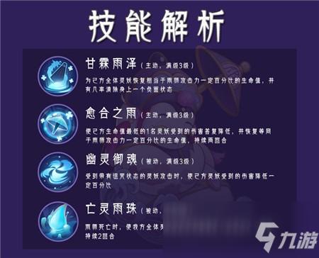 《山海有灵妖》雨师玩法介绍