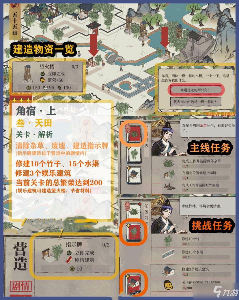 《江南百景图》东宫苍龙角宿全关卡三星攻略