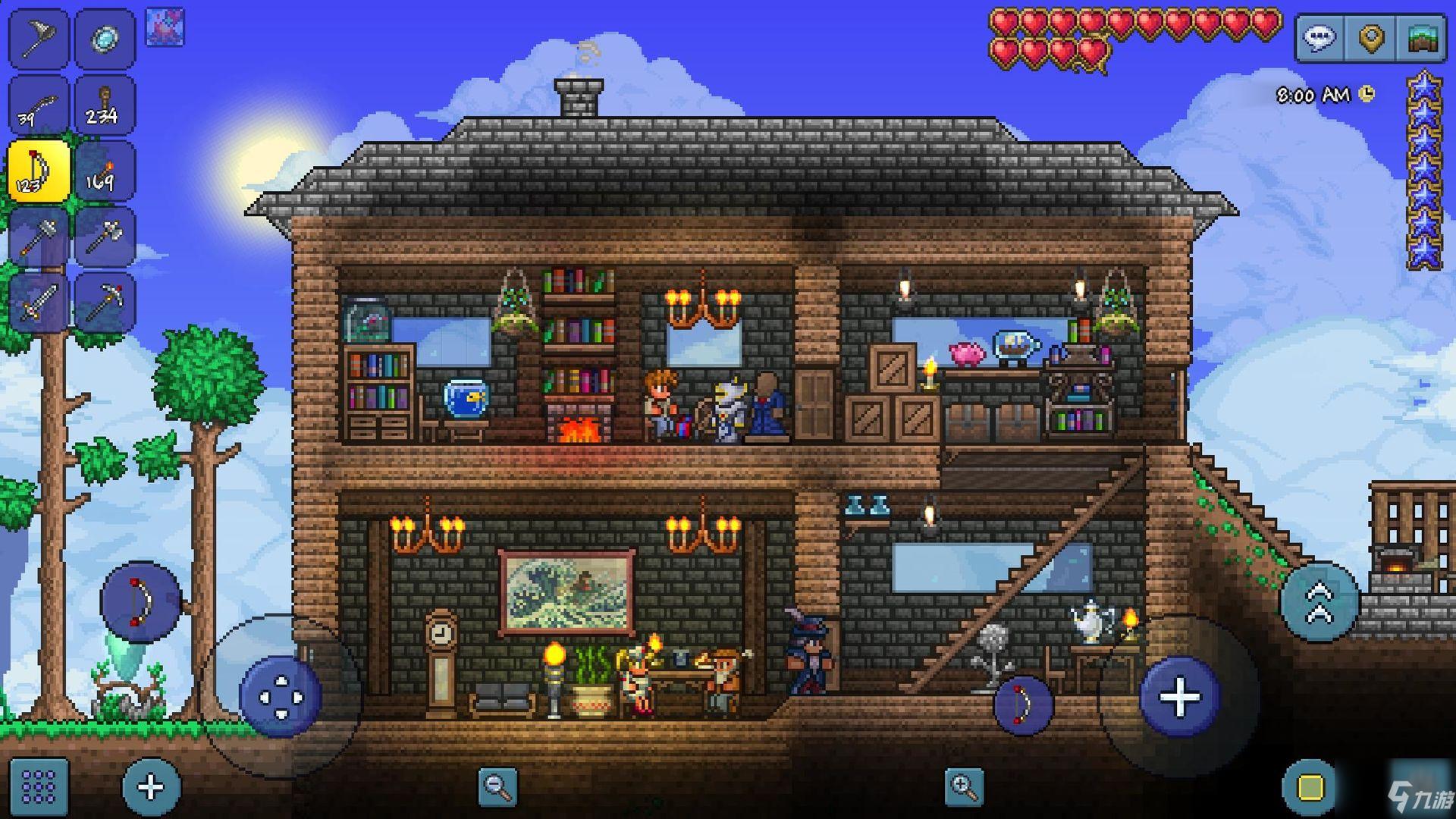 泰拉瑞亚蘑菇人的房子怎么造
