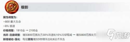 <a id='link_pop' class='keyword-tag' href='https://www.9game.cn/wzry/'>王者荣耀</a>S25更新:辅助装备大调整,战坦或将变天
